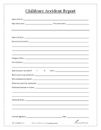 Accident Injury Report Form Template Incident Employee