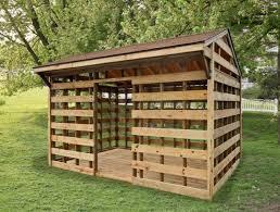 wood shed firewood storage sheds