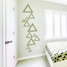 Wall decor wallums wall decor dandelion wall decal impressive stacked  triangles wall decal by wallums excellent
