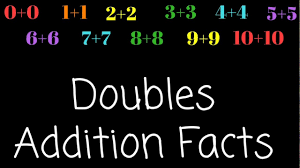 1st Grade Flash Cards Doubles Addition Facts First Grade Math Facts Addition Flash
