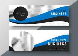 Business Banner Design Blue Wavy Business Banner Design Download Free Vector Art Stock