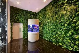 building lobby feature wall using artificial plants on green wall fake plants with home greenturf asia