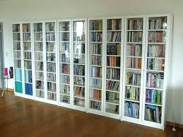 bookcase sliding glass doors book cabinet sophisticated bookshelves with white and drawers