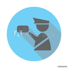 Web Design Office Delectable Customs Officer Icon Elements Of Airport In Flat Blue Colored Icon