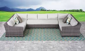 outdoor sectional. Fine Sectional Malibu HandWoven Resin Wicker Outdoor Sectional And