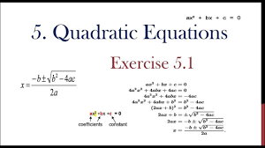 10th class quadratic equations 5 1 for ts and ap and cbse