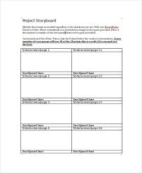 Project Storyboard Templates 6 Free Word Pdf Format Download