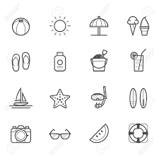Summer Icons Summer Icons And Beach Icons