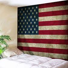 distressed american flag wall hanging tapestry colormix w71 inch l91 inch