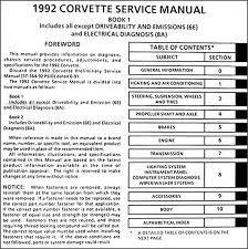1992 corvette wiring diagram 1992 image wiring diagram 1992 corvette repair shop manual original on 1992 corvette wiring diagram