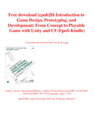 Introduction To Game Design Prototyping And Development Pdf Free Download Free Download Epub Introduction To Game Design