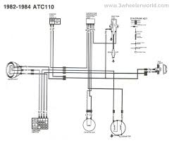 3 wheeler world tech help honda wiring diagrams atc110 1982 thru 1984