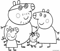 Picture Of A Pig To Color 4 Peppa Pig Coloring Pages Print