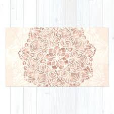 pink and gold rug mandala seashell rose gold c pink rug pink and gold area rugs