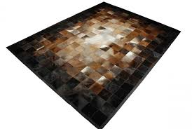 square tiles brown beige and black leather area rug designed in 8 inches squaresbrown