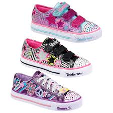 skechers shoes for girls kids. image is loading kids-girls-skechers-velcro-lace-up-twinkle-toes- skechers shoes for girls kids