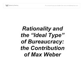 rationality and the ideal type of bureaucracy the contribution  document image preview