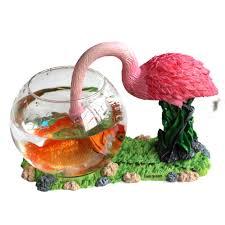 Decorative Fish Bowls Round Glass Fish Bowl Aquarium Betta Home Decoration Synthetic 44