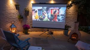 an outdoor cinema in your garden