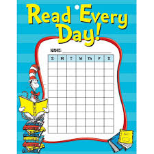 Cat In The Hat Reading Reward Chore Chart