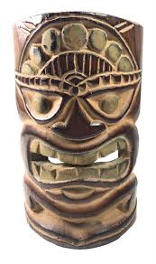 click to enlarge happiness tiki mask tropical tiki decor  on tiki mask wall art with 8 happiness tiki mask tropical wall decor oceanic art