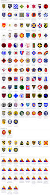 Us Army Patch Chart U S Army Division Insignia Vfw War Military Insignia