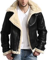 b3 aviator pilot men leather jacket