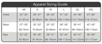 Torpedo7 Sizing Information Chart