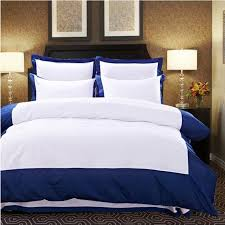 white and blue bedding fashion hotel bedding set white 4pcs black stripe duvet cover pure