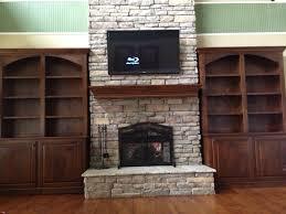 Stone Fireplace Remodel Bookshelves Around Stone Fireplace Home Decor Pinterest