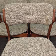 erik buch walnut dining chairs for o d mobler set of 6