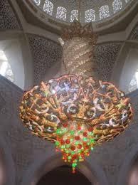 sheikh zayed mosque main hall chandelier