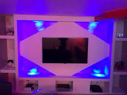 Placoplatre Decoration Tv Cuisine Plafond Placo Design Relief Led Meuble Tv Placo Design Led