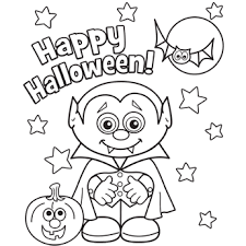 Small Picture Halloween Coloring Page Kindergarten Halloween Coloring Pages Free