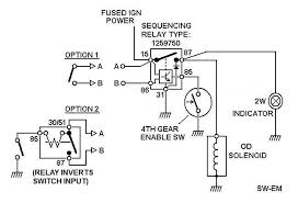 sw em od retrofitting on a vintage volvo borg warner overdrive relay wiring diagram od wiring 4 based on wiring as shown in reference wiring diagram below option 1 shown with a momentary contact switch where both contacts are isolated and