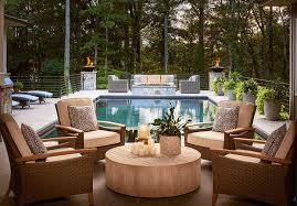 living room carolina design associates: carolina design associates circular seating arrangement by pool view full size