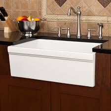 porcelain apron sink.  Porcelain Large Rectangle Single Bowl White Apron Front Kitchen Sink With Black  Countertop For Decor Idea Intended Porcelain Apron Sink N