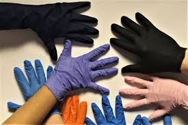 Rubber gloves hand jobs
