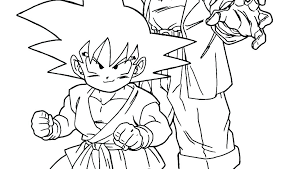 Free Dragon Ball Z Coloring Pages Dragon Ball Z Coloring Pages Page