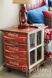 diy night stands made from old coca cola crates trash to treasure furniture recycle