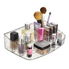 Amazon.com: mDesign Cosmetic Organizer for Vanity Cabinet to Hold Makeup,  Lipstick, Beauty Products - Clear: Home & Kitchen