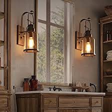 industrial loft lighting. plain industrial jiayoujia industrial loft rust metal lantern 1light wall sconce with clear  glass and lighting t