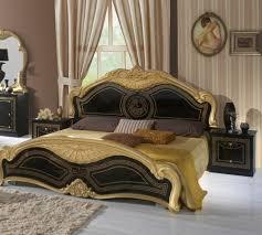 Barock Schlafzimmer In Schwarz Gold Lusinda 4 Teilig Im Klassischen Stil