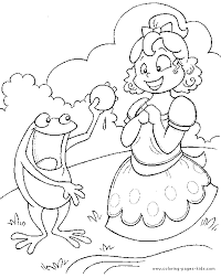 Fairy Tale Color Page Coloring Pages For Kids Fantasy Medieval