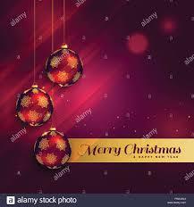 Beautiful Christmas Design Beautiful Christmas Festival Greeting Card Design Stock
