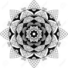 Mandala Highly Detailed Illustration Black And White Antistress