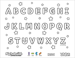 Small Picture Coloring Page Alphab Marvelous Alphabet Coloring Pages Az