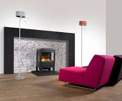... Favorable Ideas Of Freestanding Fireplace Designs In Home Interior  Decoration : Creative Purple Velvet Lounge Chair ...