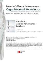 organizational behavior chp employment self improvement
