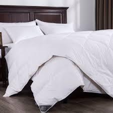 puredown lightweight white down comforter light warmth duvet insert 100 cotton 550 fill power twin size white com